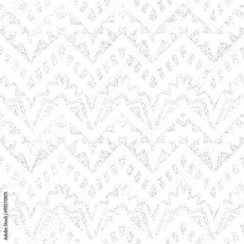 Foto auf AluDibond Boho-Stil Seamless vintage geometric pattern. Black and white vector illus