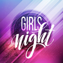 Night Party Typography Design. Vector Illustration