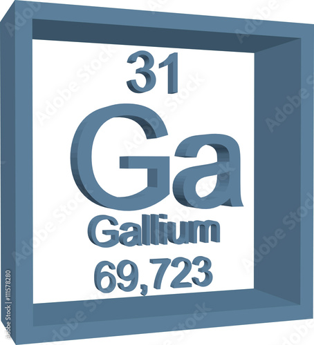 Periodic Table Of Elements Gallium Buy This Stock Vector And