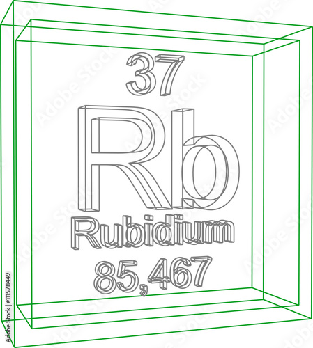 Periodic Table Of Elements Rubidium Buy This Stock Vector And