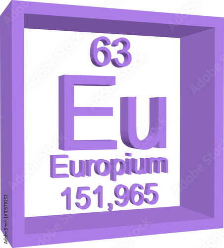 Periodic Table Of Elements Europium Buy This Stock Vector And