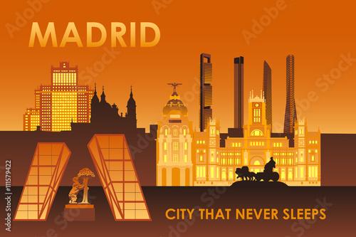 Photo  Madrid city that never sleeps