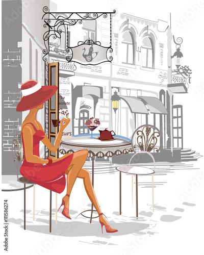 moda-dziewczyna-w-kawiarni-ulicy