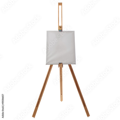 Wooden easel over isolated white background Wallpaper Mural