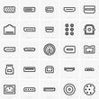 Leinwanddruck Bild - Interface icons