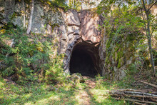 Entrance To Dark Cave In Rock