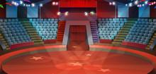 Circus Arena, Vector Background