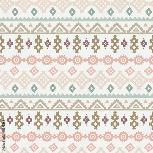 Photo sur Aluminium Style Boho Tribal art ethnic boho seamless pattern