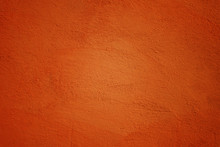 Painted Wall In Ocher Color