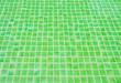 Leinwanddruck Bild - Green tile floor