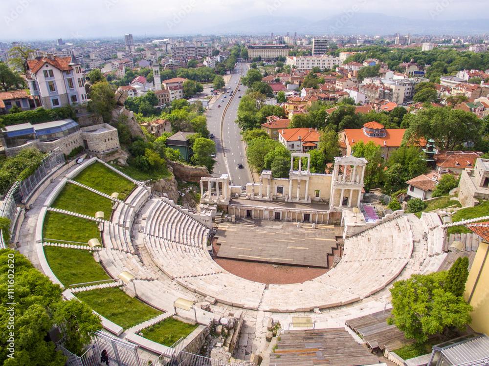 Fototapety, obrazy:  Roman amphitheater in Plovdiv
