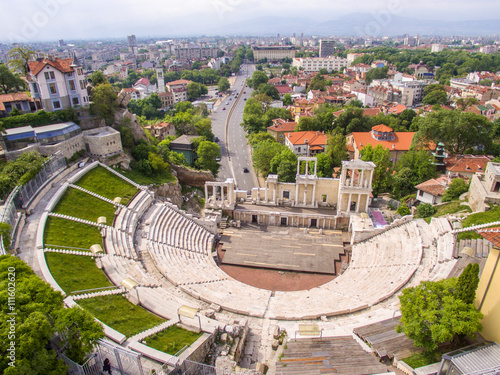 Photo  Roman amphitheater in Plovdiv