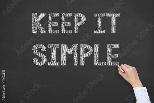 Fotografie, Obraz  Keep it Simple on Blackboard Background