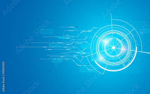Fotografering  abstract technology telecoms innovation concept background flat futuristic desig