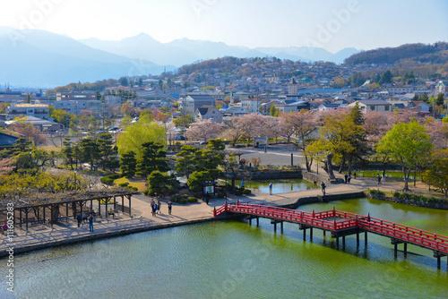 Foto op Plexiglas Japan Matsumoto city view from Matsumoto Castle