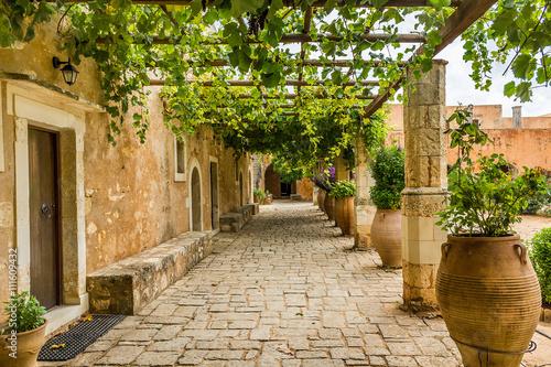 Fototapeta Monastery in the Mediterranean obraz
