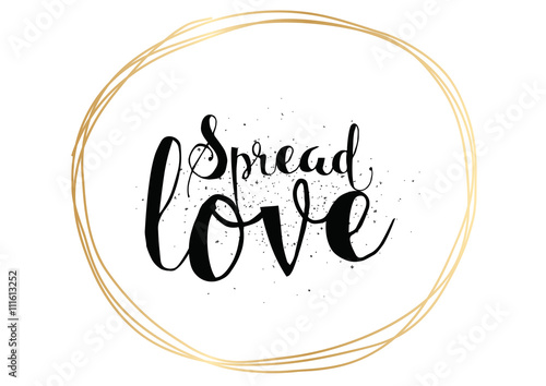Spread love inscription Wallpaper Mural