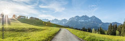 Fotografie, Obraz  Wilder Kaiser Berglandschaft Panorama