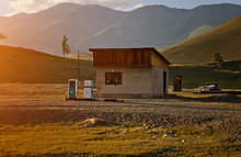 Old Gas Station In Mountain