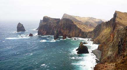 Madeira island coast, Ponte de Sao Lourenco, Portugal