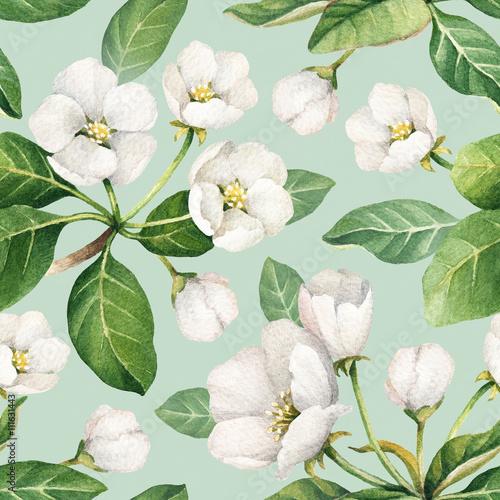 wzor-z-akwarela-ilustracje-kwiatow-jabloni