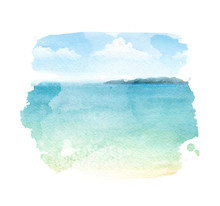 Watercolor Illustration Of A T...