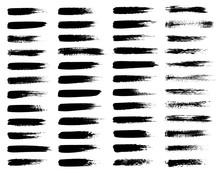 Vector Set Of Grunge Brush Str...