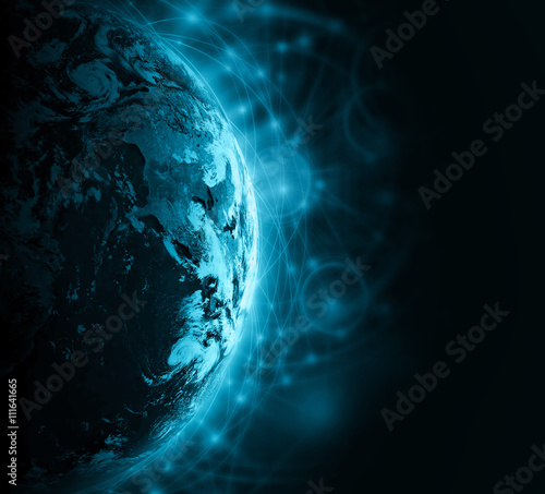 Fototapety, obrazy: Best Internet Concept of global business from concepts series. Elements of this image furnished by NASA