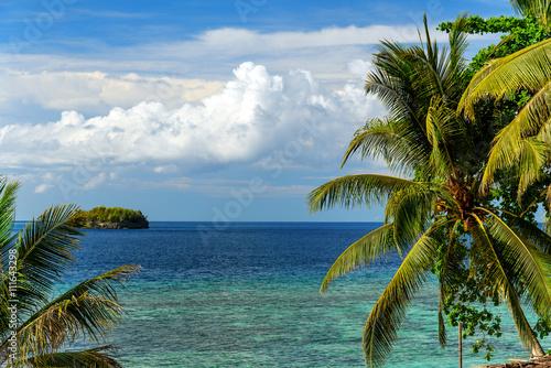 View of Sea from Kadidiri island. Indonesia