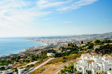 Panoramic View From Benalmadena To Fuengirola, Costa Del Sol, Andalusia, Spain