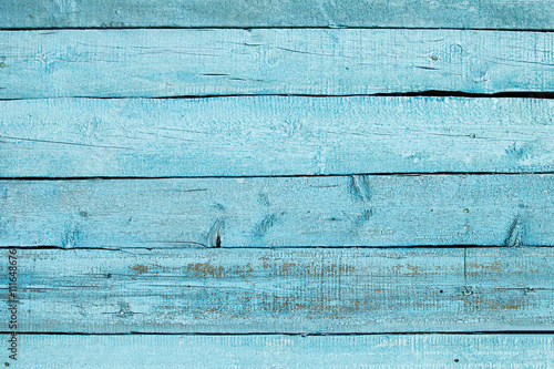 Tuinposter Hout Vintage blue wooden background. Old weathered aquamarine board. Texture. Pattern. Wood background.