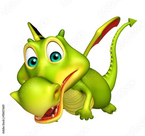 cute Dragon funny cartoon character