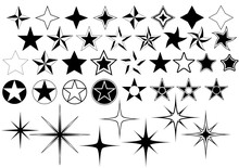 Vector Collection Of Star Isol...