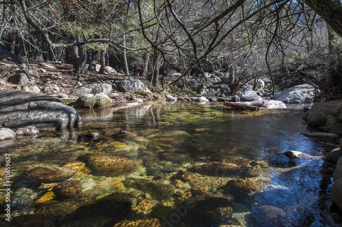 Valokuva  The River Manzanares along its course through La Pedriza, in Guadarrama Mountain