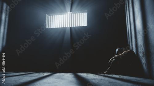 Fotografía Prisoner in Bad Condition in Demolished Solitary Confinement und
