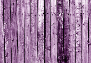 Purple wooden fence texture.