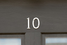 House Number 10 Sign On Door