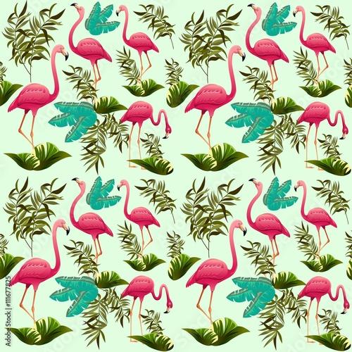 rozowy-wektor-wzor-flamingi