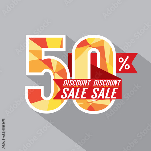 Fotografia  50 Percent Discount Vector Illustration.