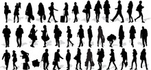 Set Of 39 Vector's Silhouettes...