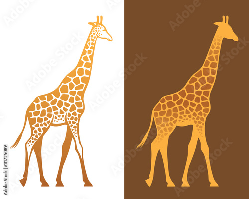 Giraffe with spots illustration Wallpaper Mural