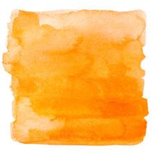 Square Orange Watercolor Banner