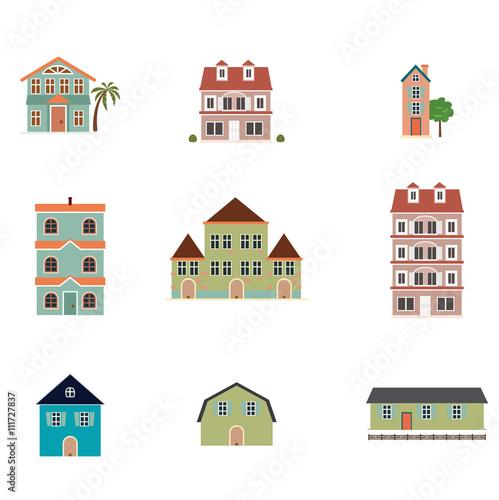 Fototapety, obrazy: Nine kinds of buildings
