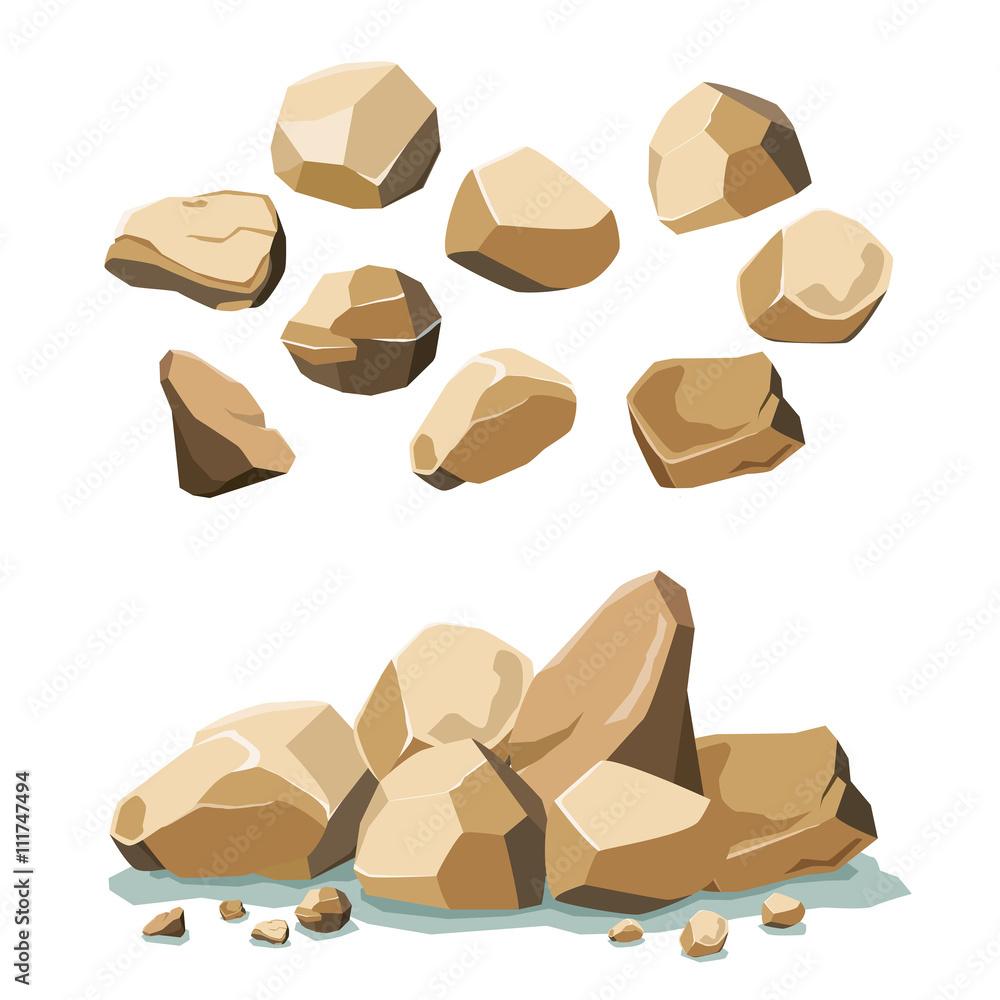 Fototapety, obrazy: rock and stone set