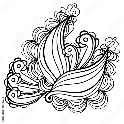 Poster Sprookjeswereld Abstract ornamental vintage Coloring Page.