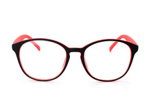 Red Black Eye Glasses Isolated...