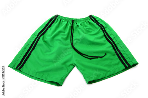 Fotografía  green shorts Isolated on a white background
