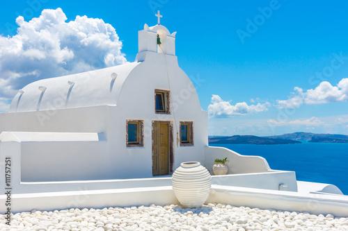 Obraz Landscape Santorini Island, Oia, Cyclades, Greece - fototapety do salonu