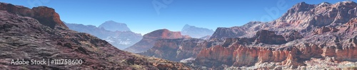 mountain landscape, panorama, banner.