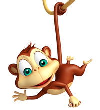 Funny  Monkey Cartoon Character